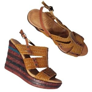 Elite by Corkys - Straw - Size 10 - Wedge Sandal